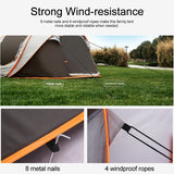 [3 IN 1,For 5-8 Person] Auto Setup Large Camping Tent Waterproof UV Resistance Sun Shelters For Outdoor Hiking Fishing Travel Beach