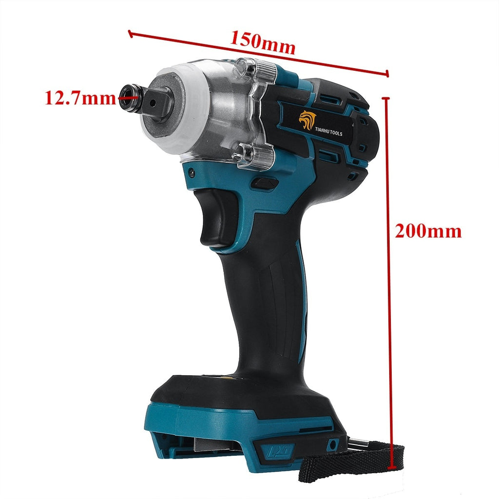 18V Impact Wrench Brushless Cordless Electric Wrench Power Tool 520N.m Torque Rechargeable For Makita Battery DTW285Z