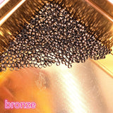 DIY 2/2.5/3/4mm Gold Silver Copper Ball End Crimp Beads Diameter Stopper Spacer Beads For Jewelry Making Finding