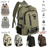 2 styles of colors men's backpack neutral leisure backpack hiking canvas backpack large capacity bag men's laptop bag