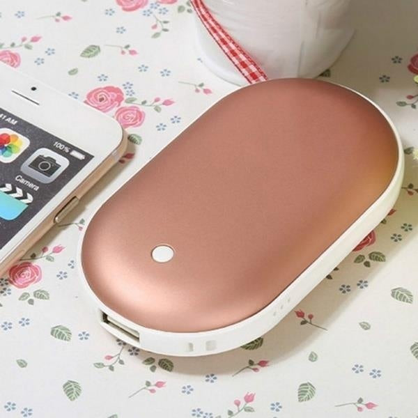 1PC 5200mAh 5V Cute USB Rechargeable LED Electric Hand Warmer Heater Travel Handy Long-Life Mini Pocket Warmer Home Warming Product 4 colors