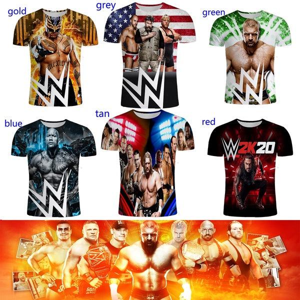 Details About WWE Wrestling Stars The Undertaker John Cena Big Show 3D Printed T Shirt Unisex Clothing Casual Funny Short Sleeve