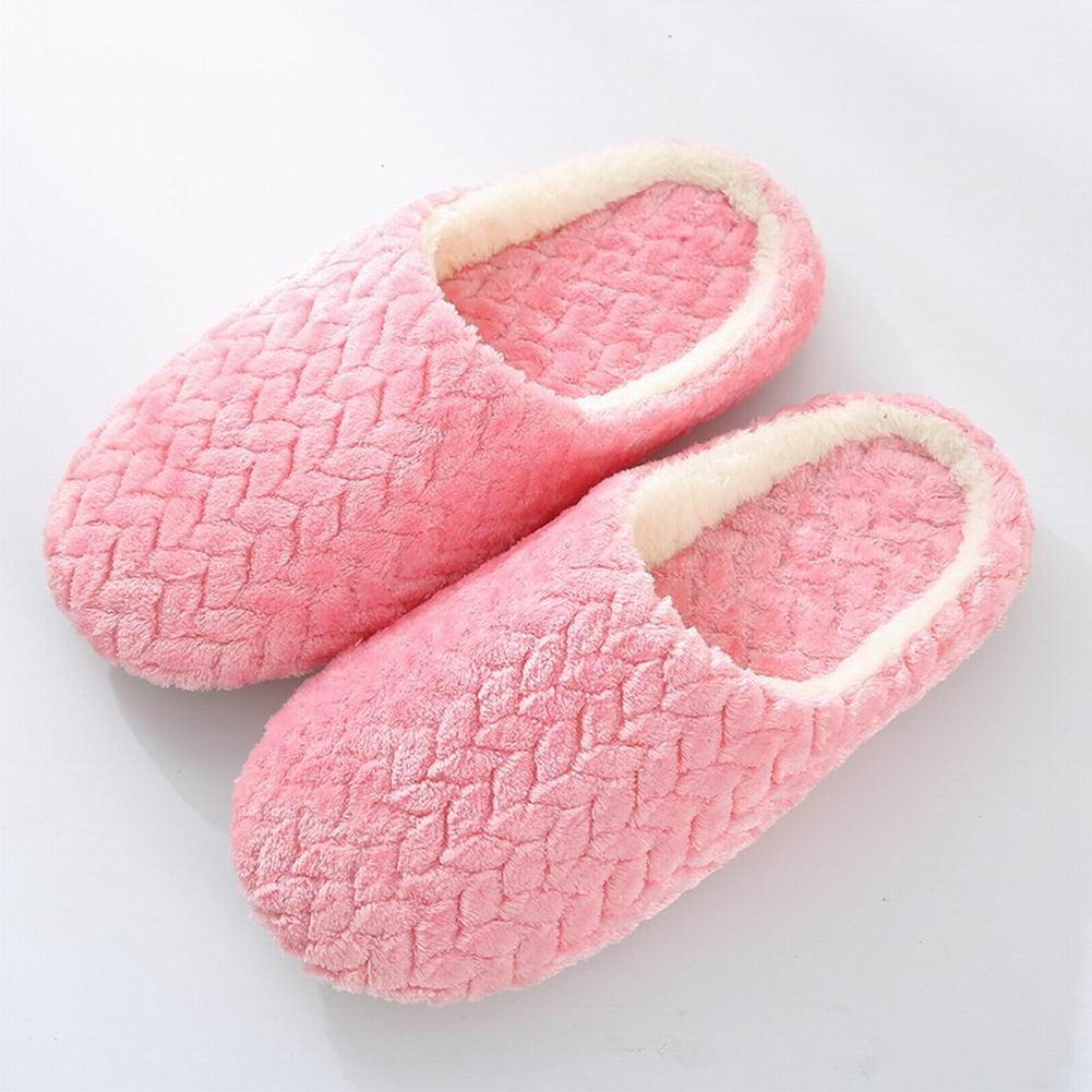 Indoor Slippers Soft Washable Cotton Non-Slip Home Shoes for Men and Women
