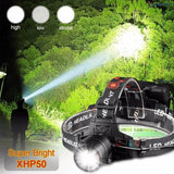 XHP50 USB Rechargeable  Headlight high powerful xhp70 head lamp torch  Head light  Telescopic zoom Best for Camping