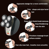 USB Rechargeable Men Razor 5 Heads 4D Floating Electric Bald Shaver Cordless Beard Trimmer Hair Clipper Groomer
