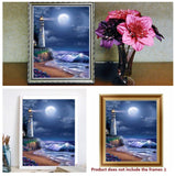 Lighthouses New Arrive Creative Full Round 5D Drill Resinstone Diy Handmade Diamond Painting Cross-Stitch DIY Home Decor Craft Kit