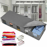 Large Capacity Under Bed Storage Bag 5 Compartments Clothes Shoes Organizer Box