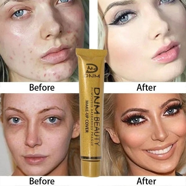 Concealer Cover Acne Marks Scar Tattoo Dark Circles Freckles Liquid Foundation