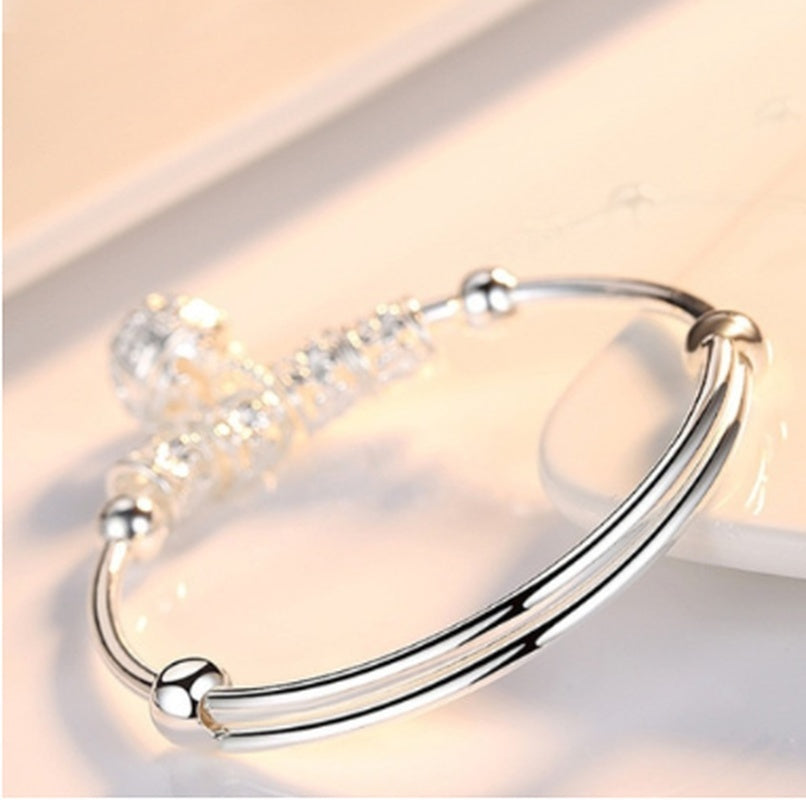 Silver ladies bells Japanese and Korean version of the wild fashion silver bracelet jewelry