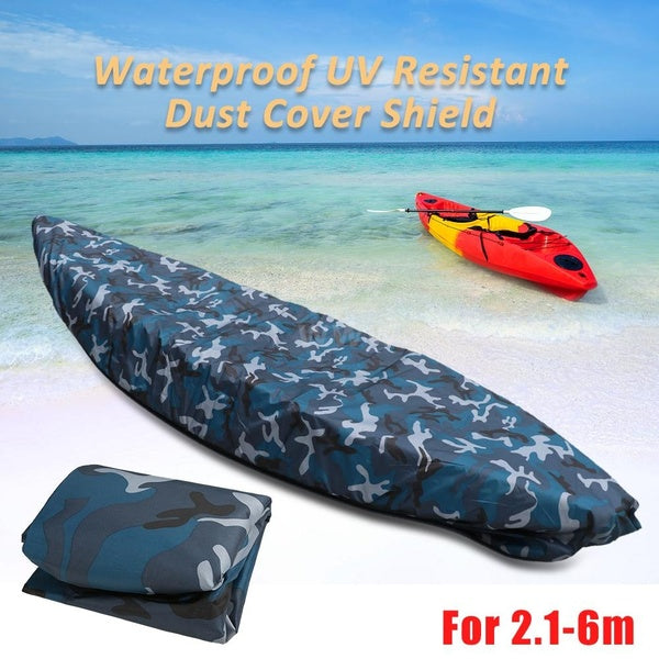 Professional Universal Camouflage Kayak Canoe Boat Waterproof UV Resistant Dust Storage Cover Shield