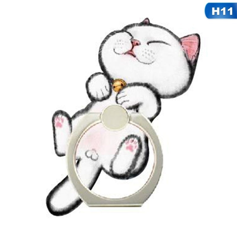 360 Degree Cartoon Cat Ring Smartphone Stand Mobile Phone Stand Suitable For Iphone Huawei All Mobile Phones Fashion Mobile Phone Accessories Gifts