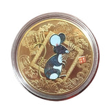 Year of the Rat Commemorative Coin Chinese Zodiac Souvenir Challenge Collectible WQA