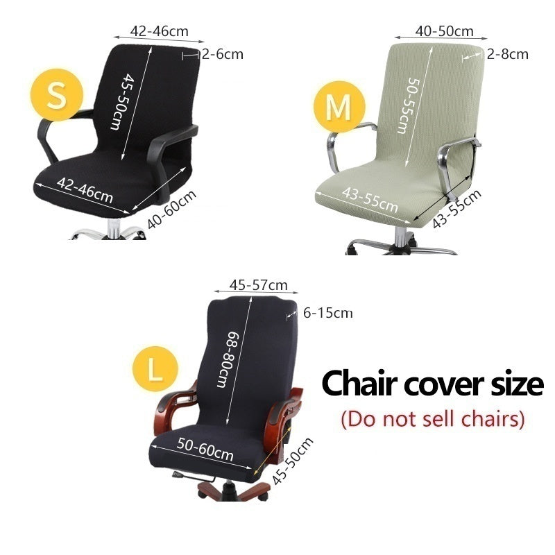 Home Elastic Office Chair Cover Solid Color Computer Chair Slipcover Spandex Stretch Armchair Seat Case Removable and Washable Chair Protector Without Chair