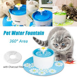 1.6L EU/US Plug Electric Pet Drinking Water Fountain Automatic Cat Mute Water Dispenser