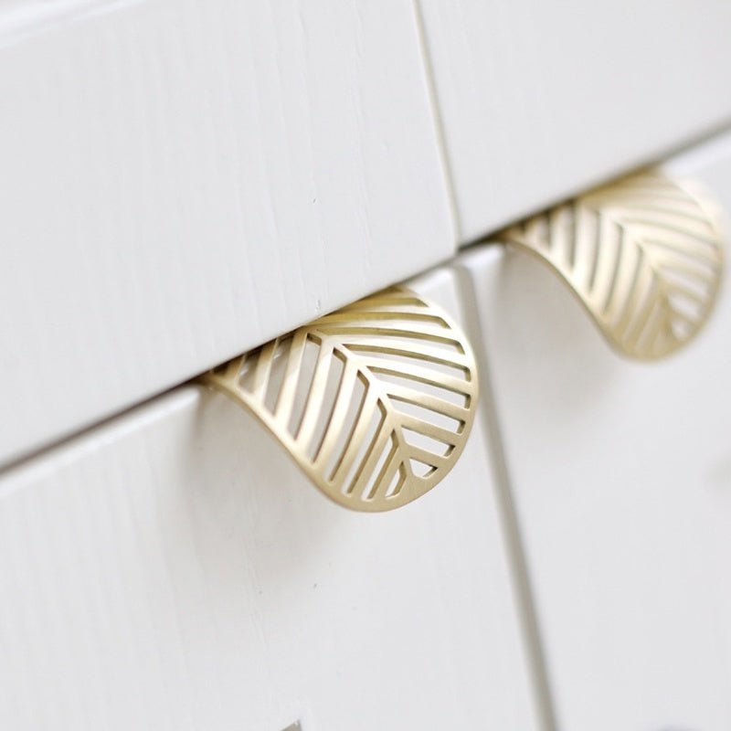 1Pcs Home Bedroom Furniture Handles Leaf Shape Kitchen Cabinet Knobs Drawer Pulls Cabinet Handles European
