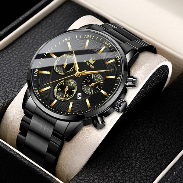 Mens Watches Stainless Steel Waterproof Business Quartz Wrist Watch Men Luxury Brand Chronograph Clock Casual Military Sport Watch Reloj Hombre Erkek Kol Saati