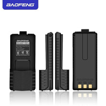 Load image into Gallery viewer, Baofeng UV5R Walkie Talkie Battery Extended 7.4V 3800mAh Li-ion BL-5 Battery Pack For Baofeng UV-5R& BF-F8 Series Black