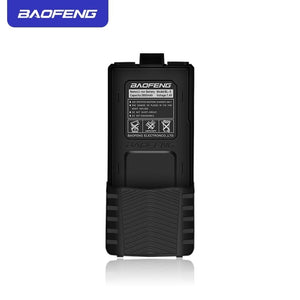 Baofeng UV5R Walkie Talkie Battery Extended 7.4V 3800mAh Li-ion BL-5 Battery Pack For Baofeng UV-5R& BF-F8 Series Black