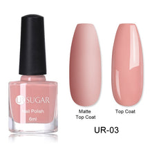 Load image into Gallery viewer, UR SUGAR Colorful Nail Polish Pink Purple Matte Nail Polish Black Nail Art Varnish