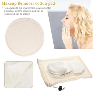 6/12Pcs Makeup Remover Pads Reusable Cotton Pads Make Up Facial Remover Bamboo Fiber Facial Skin Care Nursing Pads Skin Cleaning