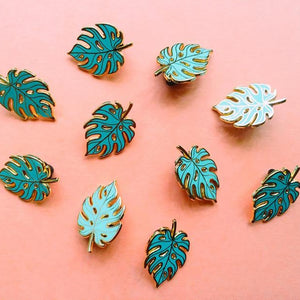 Monstera Leaf Enamel Pins Enamel Brooches