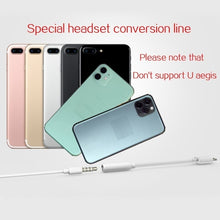 Load image into Gallery viewer, 3.5 mm iPhone11/7/8/x Headphone Connection Cable 2 in 1 Universal System Audio Line