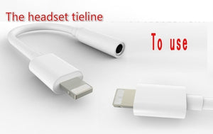 3.5 mm iPhone11/7/8/x Headphone Connection Cable 2 in 1 Universal System Audio Line