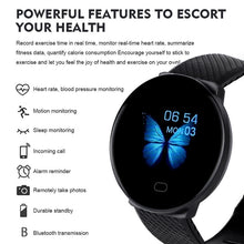 Load image into Gallery viewer, 2020 New D19 Men Smartwatch Sport Pedometer Smart Watch Fitness Tracker Heart Rate Monitor Women Clock for iphone Android IOS