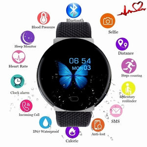 2020 New D19 Men Smartwatch Sport Pedometer Smart Watch Fitness Tracker Heart Rate Monitor Women Clock for iphone Android IOS