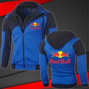 Autumn Winter Red Bull Racing Men Jacket Motorcycle Team Zipper Jacket Outdoor Casual Sportswear Slim Fit Sweatshirts