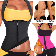 Load image into Gallery viewer, Women Sauna Suit Neoprene Sweat Waist Trainer Vest with Zipper for Weight Loss Slimming Corset Workout Body Shaper Shirt Tank Top