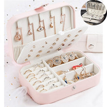 Load image into Gallery viewer, 3 Styles Portable Jewelery Organizer Storage Box Rings Earring Earstud Necklace Bracelet Watches Containers for Women Girls Travel Work Business Trip (8cm / 10cm / 16.5cm)
