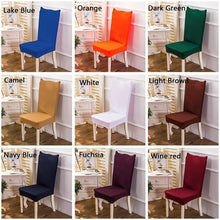 Load image into Gallery viewer, Solid Color Elastic Chair Protection Covers Spandex Stretch Chair Cover Living Room / Banquet / Party Chair Cover