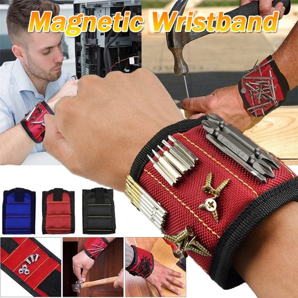 Three strong Magnet Magnetic Wristband Multi-function Screws Nails Scissors Small Tools Bolts Bits Storage Wrist Bracelet