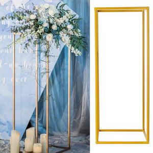 7.9x7.9x15.7 inch/9.4x9.4x23.6 inch Flower Rack Metal Art Wedding Geometric Vase Column Stand Prop Party Decoration