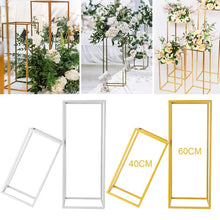 Load image into Gallery viewer, 7.9x7.9x15.7 inch/9.4x9.4x23.6 inch Flower Rack Metal Art Wedding Geometric Vase Column Stand Prop Party Decoration