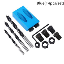 Load image into Gallery viewer, 14pcs Oblique Hole Locator Drill Bits Jig Clamp Kit for Woodworking
