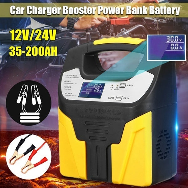 360W 12V/24V Car Battery Charger Pulse Eightfold safety protection Repair Jump Starter Booster Power Bank