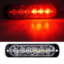 Load image into Gallery viewer, 1 / 2 Set 12W 12-24V 4 / 6 /12 LEDs Strobe Light 19 Modes Ultra-thin Emergency Flash Warning Caution Light for Trucks Cars Motorcycles