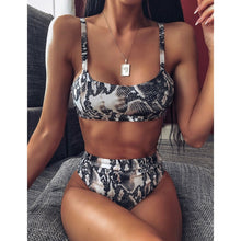 Load image into Gallery viewer, Women Sexy Bikini Set Leopard Push-Up Bra Swimsuit Beach Swimwear Bathing Suit