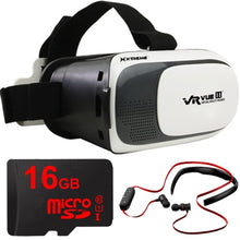 Load image into Gallery viewer, Xtreme VR Vue II Virtual Reality Viewer with 16GB MicroSD and Bluetooth Headphones Kit