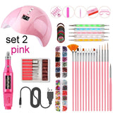 Nail Tool Kit Nail Dryer Lamp Nail Pen Nail Drill Handpiece Nail Nail File Tool Nail Brushes Nail Decorations Manicure Tape Color Rhinestones for Nails Beauty WH105110000#1