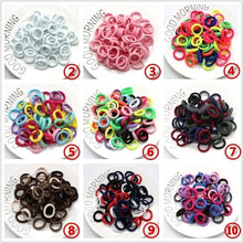 Load image into Gallery viewer, 100PCS / 50PCS/Lot Kids Candy Color Hair Rope Elastic Scrunchie Hair Bands Mini Hair Rings Rubber Band for Girls Princess Hair Accessories