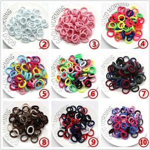 100PCS / 50PCS/Lot Kids Candy Color Hair Rope Elastic Scrunchie Hair Bands Mini Hair Rings Rubber Band for Girls Princess Hair Accessories