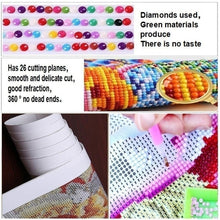 Load image into Gallery viewer, Creative Full Drill Round 5D Diamond Cross Stitch Mosaic DIY Diamond Painitng Cross-Stitch Home Dearation Accessories