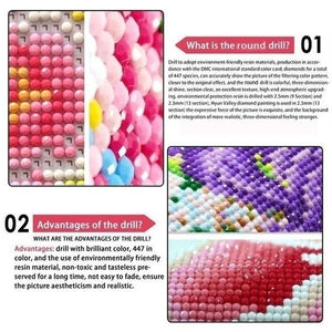 Creative Full Drill Round 5D Diamond Cross Stitch Mosaic DIY Diamond Painitng Cross-Stitch Home Dearation Accessories