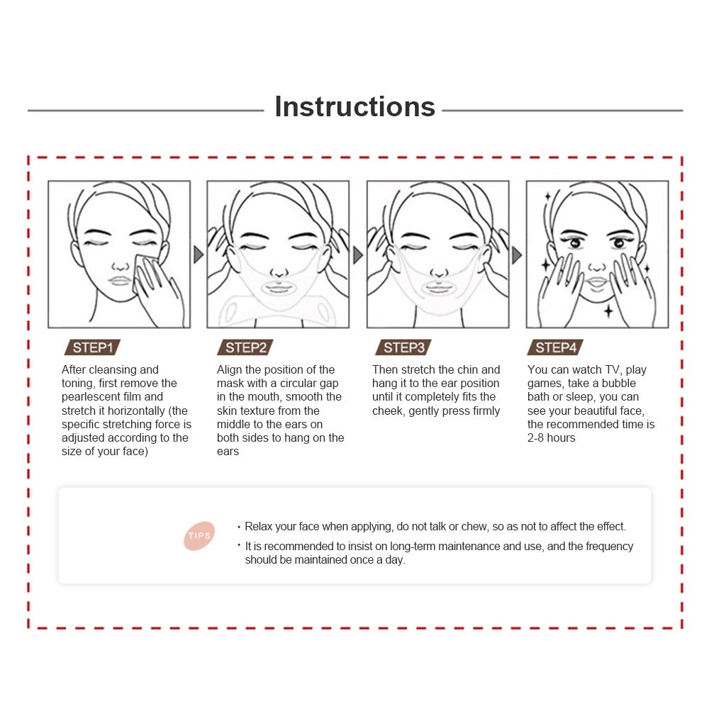 2/1Pcs Anti Wrinkle V Shape Face Firming Gel Sheet Mask Effective Face Lift Mask Moisturising Face Shaper With Free Eye Patch Mask