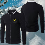 2020 High Quality England Style Autumn Winter Fashion Lyle Scott Zipper Jacket Mens Diamond Sweater Coat Outdoor Skiing Jacket