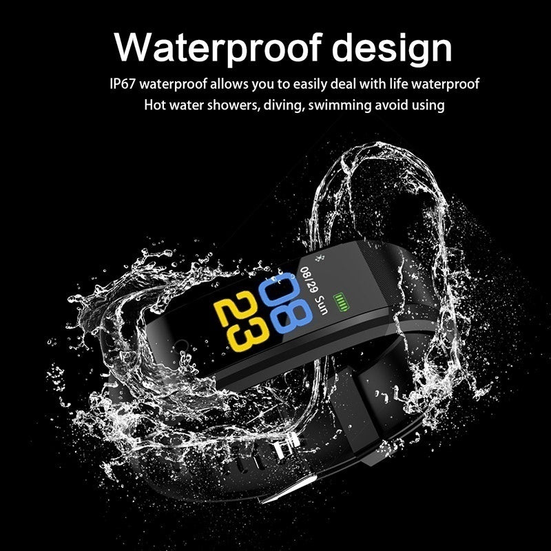 New Colorful Screen Smart Watch Heart Rate Blood Pressure Monitor Smart Bracelet Sport Waterproof Pedometer Calorie Counter Smartband Call SMS Sedentary Reminder Fitness Wristband Activity Tracker Smart Wearable Device