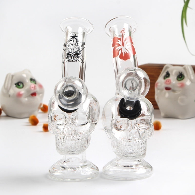 2PCS Glass Oil Burners Hookah Pipe Water Smoking Pipes Oil Burner Glass Pipe with Oil Bowl